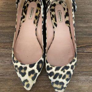 Carven leopard flats